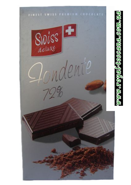 """Шоколад """"Swiss deluxe"""" tondente 72%"""