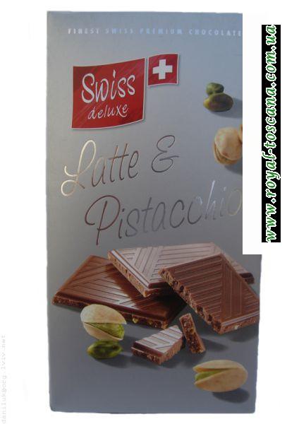 """Шоколад """"Swiss deluxe"""" Latte E Pistacchio"""