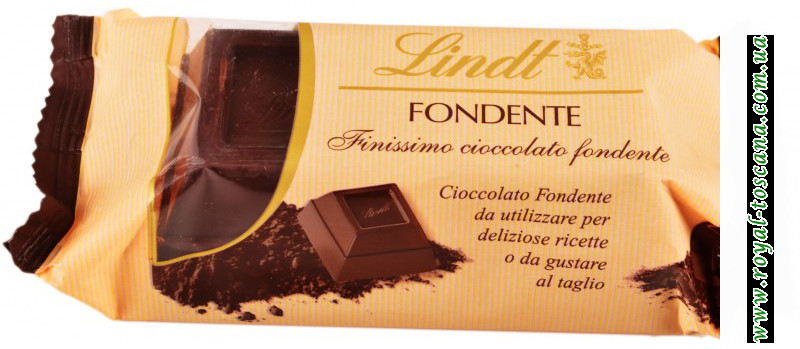 Шоколад Lindt fondente finissimo cioccolato fondente