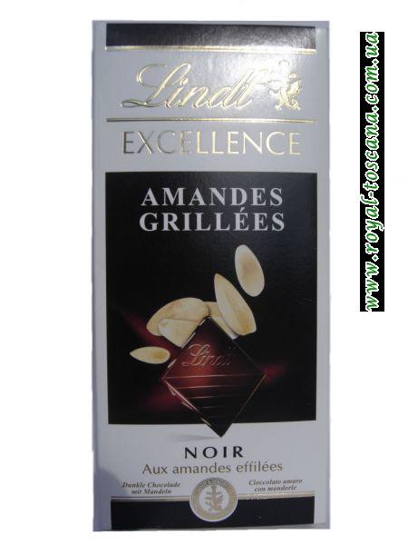 Шоколад Lindt Amandes Grillees noir