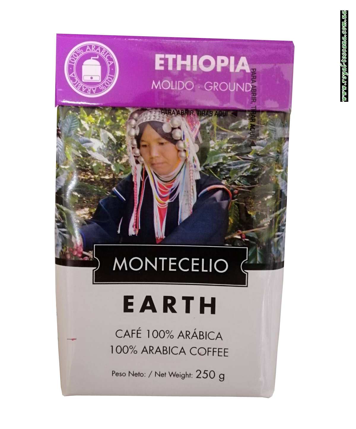 Кофе молотый Montecelio Earth Ethiopia, 250 гр.