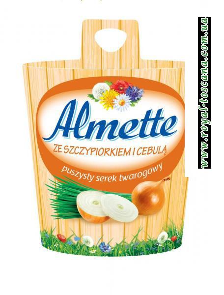 Сыр Almette ze szczypiorkiem i cebulą