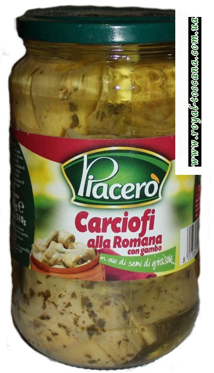 Артишоки Piacero в подсолнечном масле