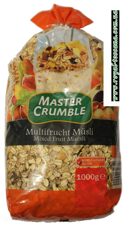 Мюсли Master Crumble Mixed fruit muesli