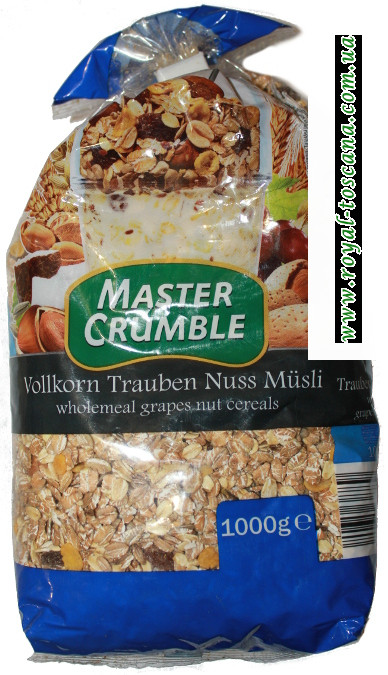 Мюсли Master Crumble Vollkorn trauben nuss musli