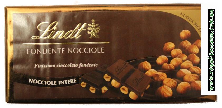 Шоколад Lindt Fondente nocciole