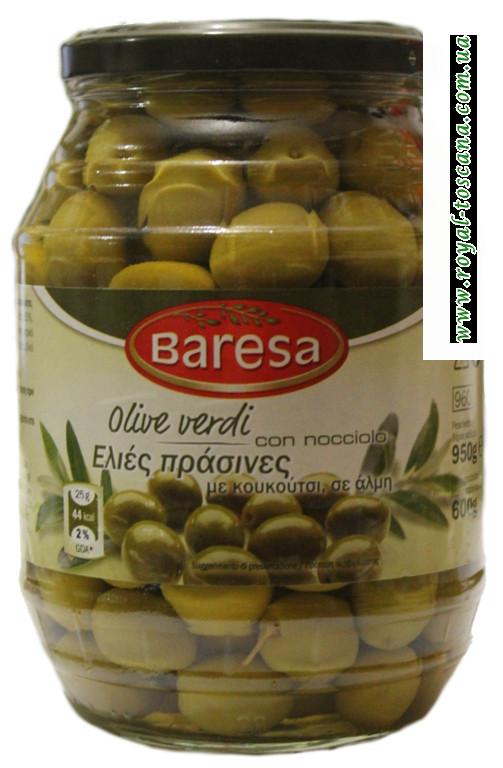 Оливки зелёные мал. с косточкой Baresa