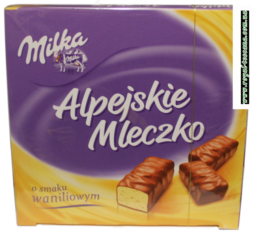 Конфеты Milka Alpejskie Mleczko с ванилью
