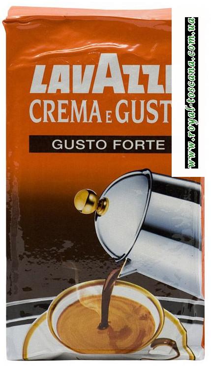 Кофе Lavazza Crema e Gusto forte арабика 20%
