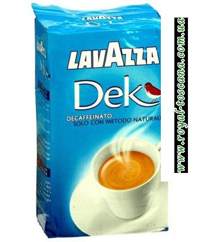 Кофе Lavazza Decaffeinato (без кофеина) 60% арабики, 40% робусты