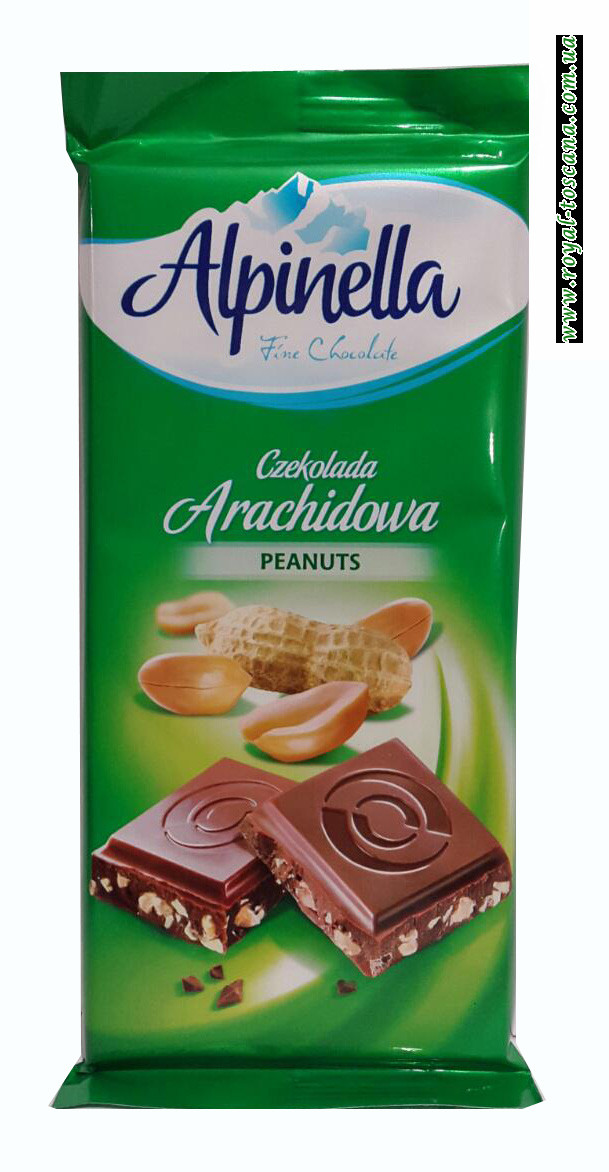 Шоколад молочный Alpinella Peanuts