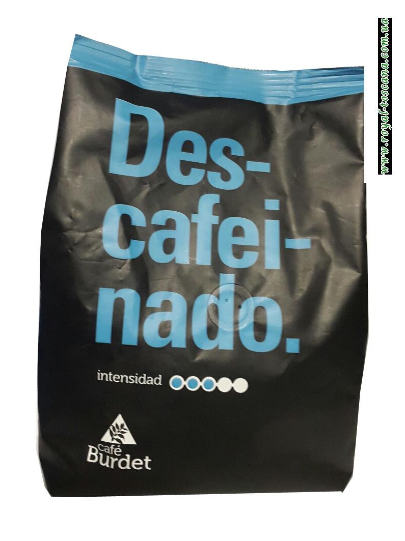 Кофе без кофеина в зернах Cafe Burdet Descafeinado, 500г
