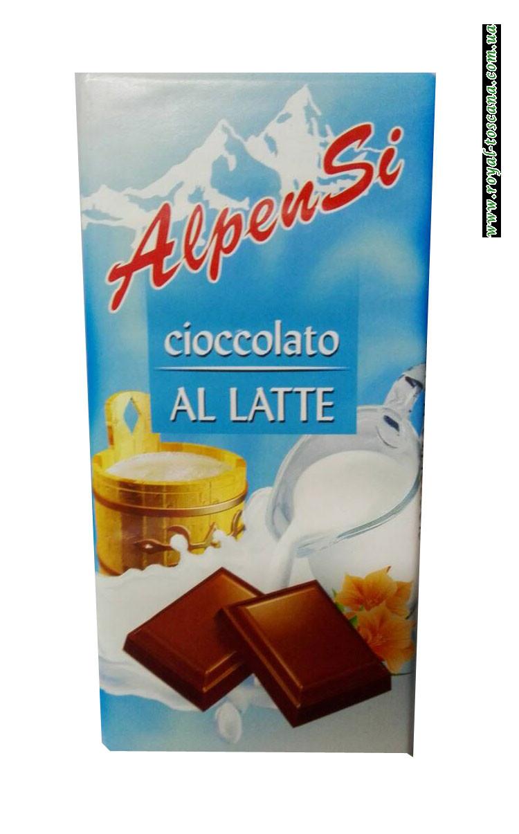 Шоколад молочный AlpenSi Cioccolato al Latte