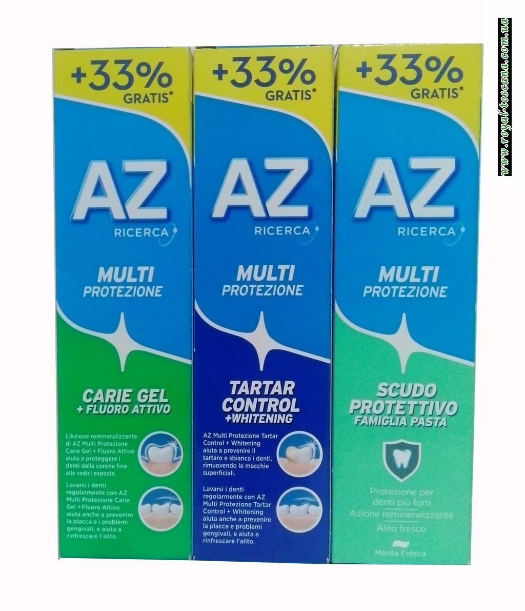 Зубная паста AZ Multi Protezione, в ассортименте