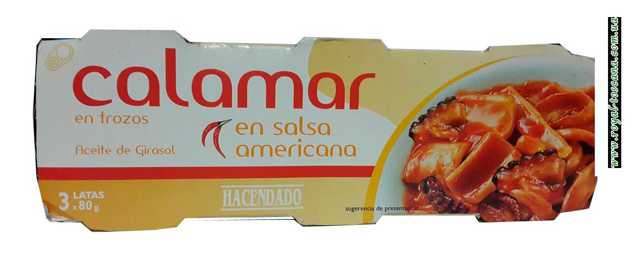 Кальмар в оригинальном американском соусе Hacendado Calamares Salsa Americana