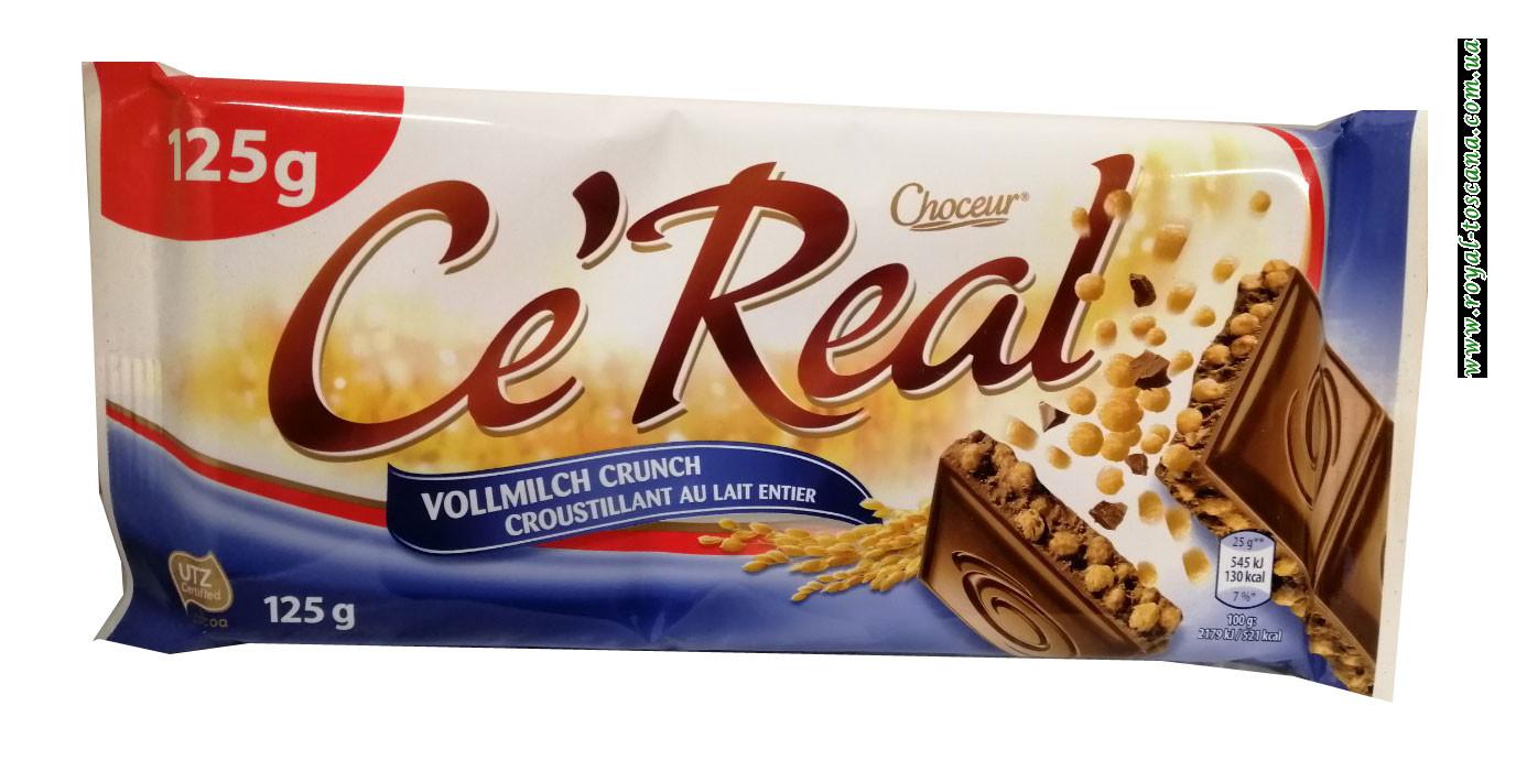 Шоколад молочный Choceur Ce Real Vollmilch Crunch