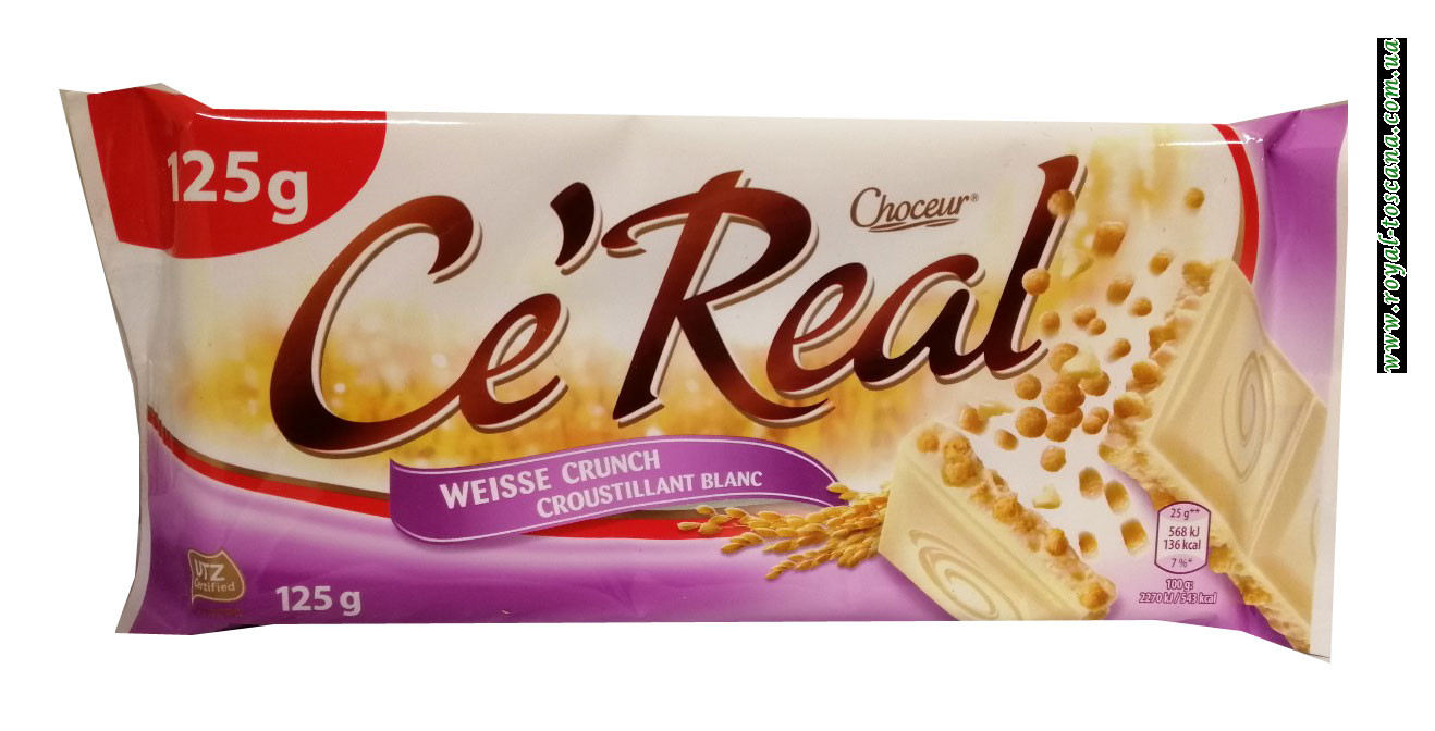 Шоколад белый Choceur Ce Real Weisse Crunch