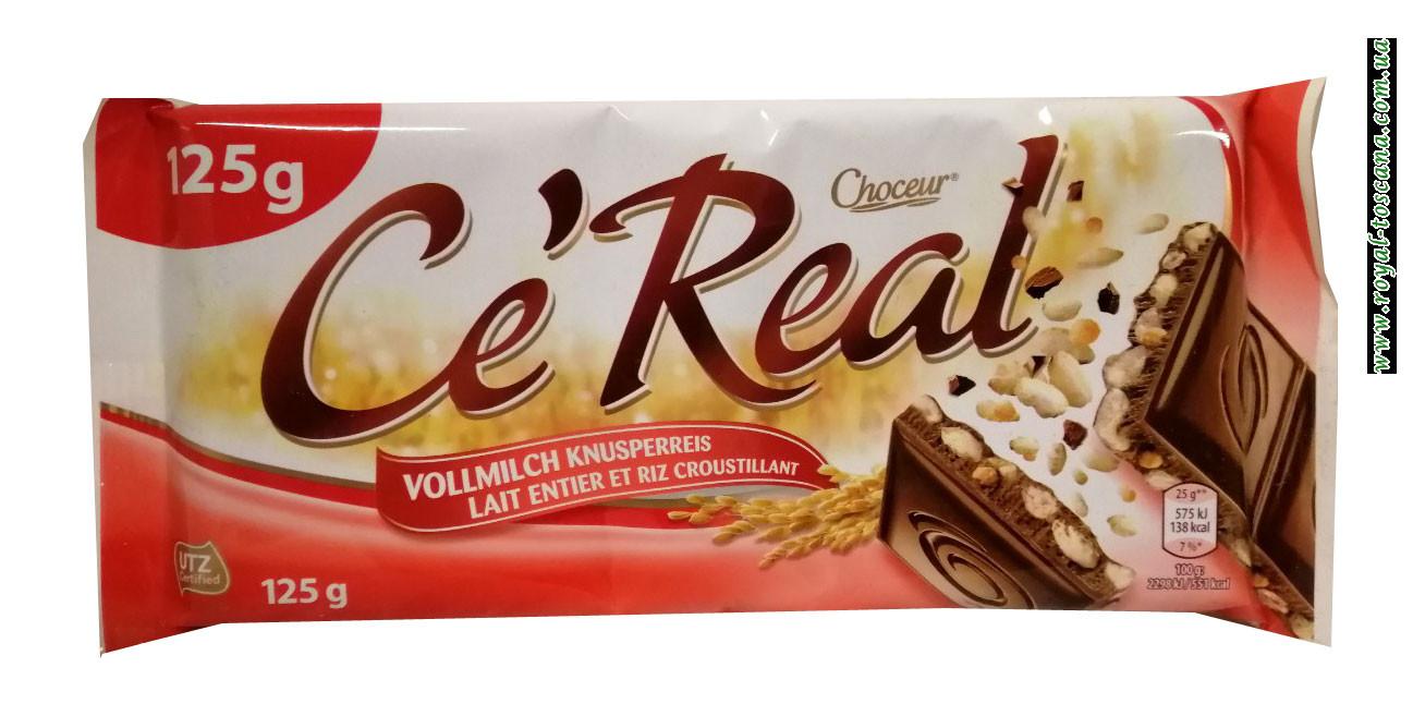 Шоколад Choceur Ce Real Vollmilch Knusperreis