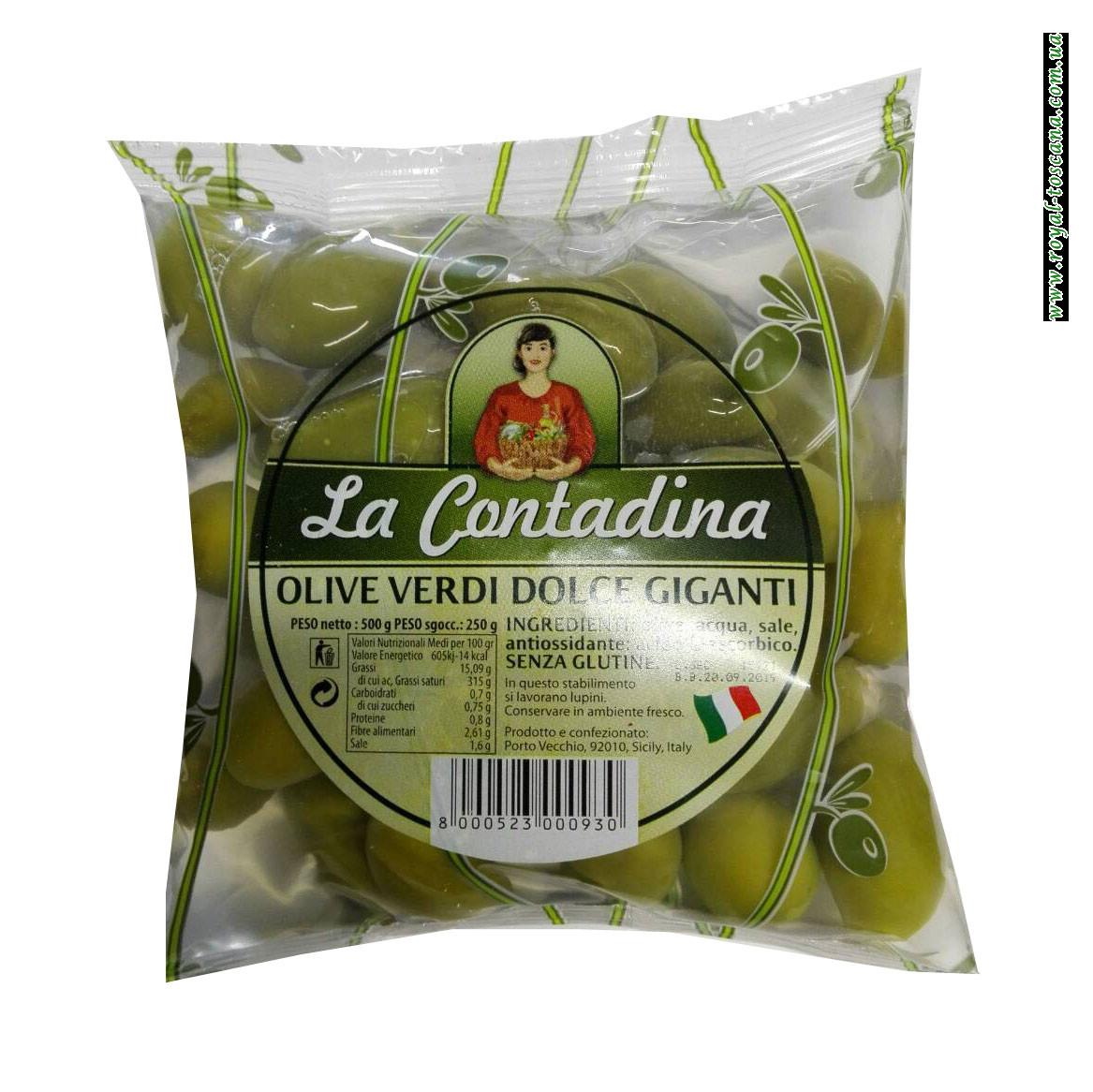 Оливки зеленые Contadina Olive Verdi Dolce Giganti
