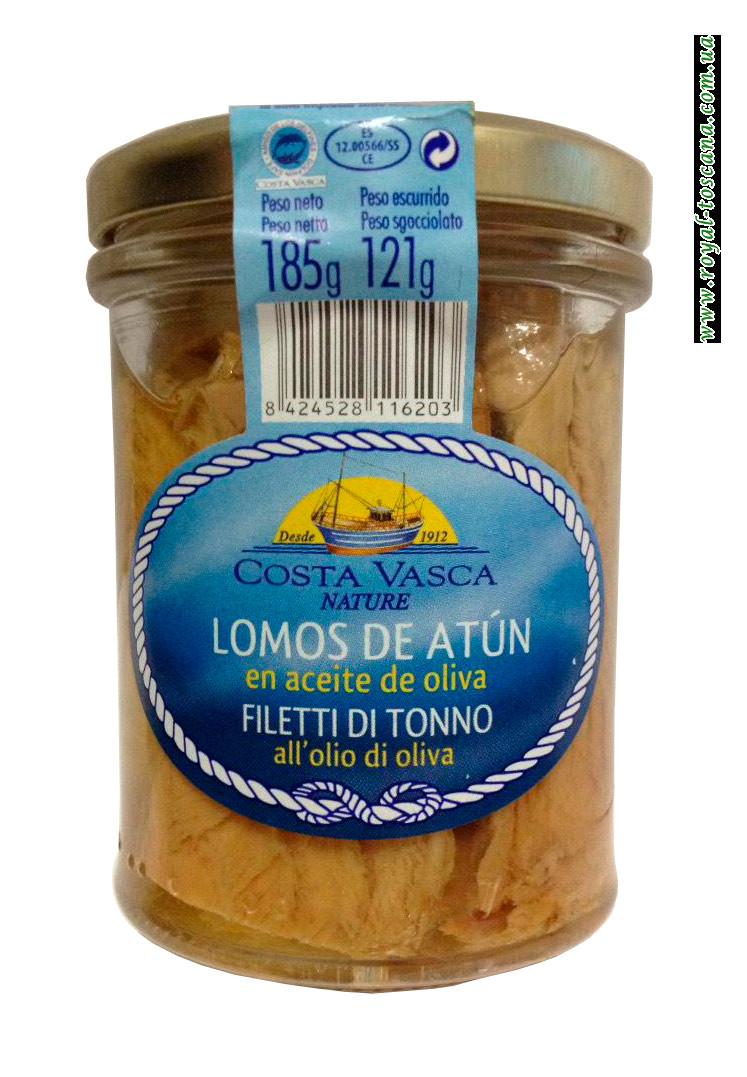 Филе тунца Costa Vasca Lomos de Atun