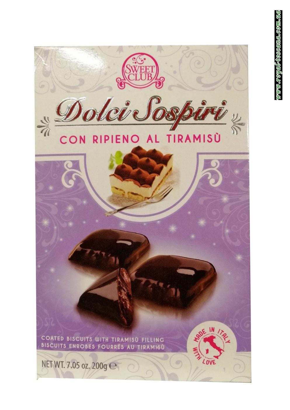 Шоколадное пирожное с тирамису Dolci Sospiri con Ripieno al Tiramisu