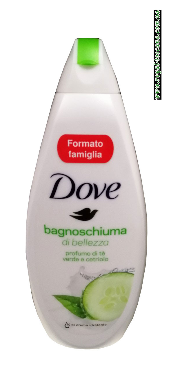 Гель для душа с огурцом и зеленым чаем Dove Bagnoschiuma Profumo di te Verde e Cetriolo