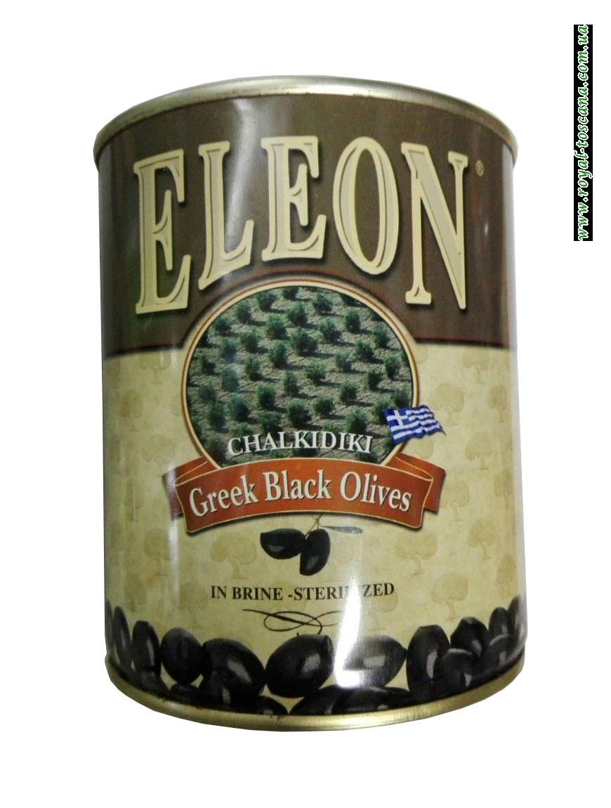 Оливки черные с косточкой Eleon Chalkidiki Greek Black Olives