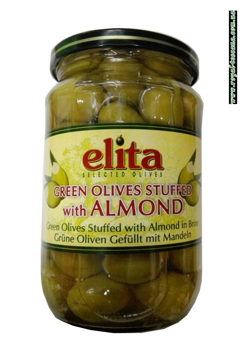 Оливки зеленые с косточкой Elita Green Olives Stuffed