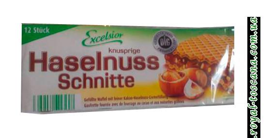 Вафли с фундуком Excelsior Haselnuss Schnitte