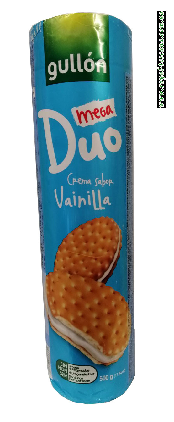 Печенье Gullon Mega Duo Vanilla