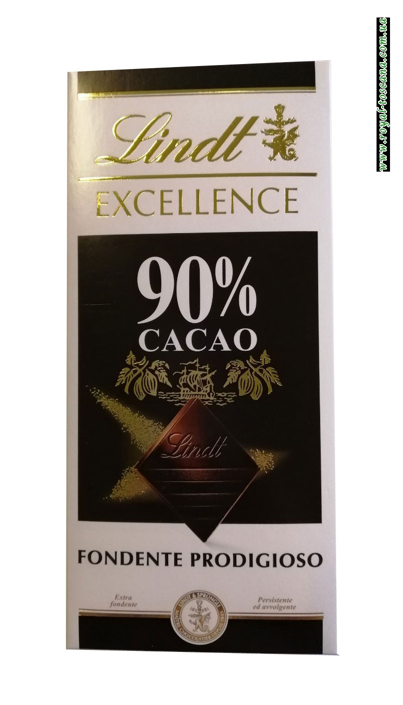 Шоколад черный Lindt Exellence 90% Cacao Fondente Prodigioso