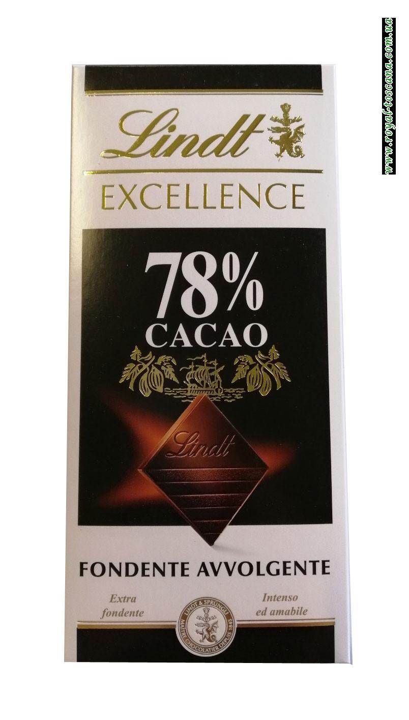 Шоколад черный Lindt Exellence 78% Cacao