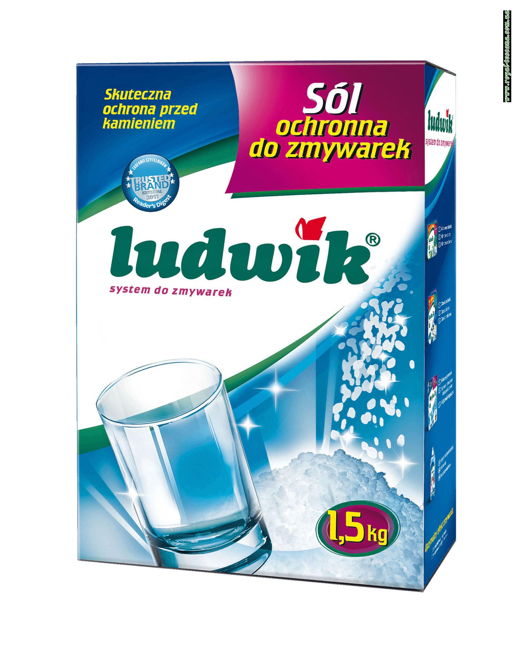 Соль для посудомоечных машин Ludwik, 1.5 кг