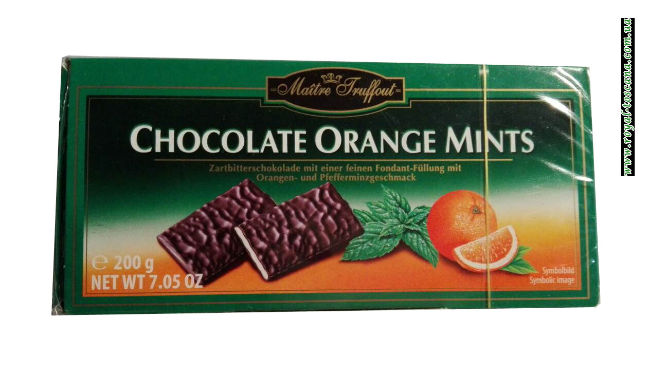 Шоколадные конфеты Maitre Truffout Chocolate Orange Mint