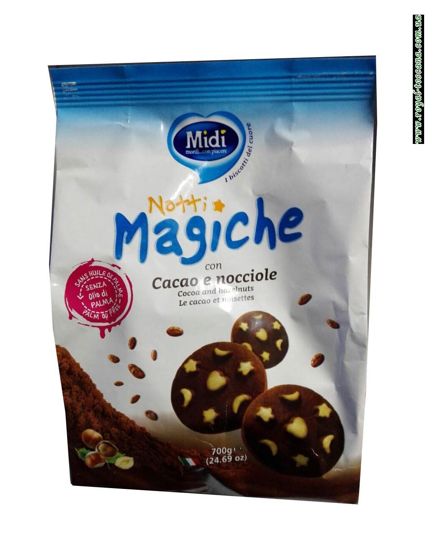 Печенье с фундуком Midi Notti Magiche con Cacao e Nocciole