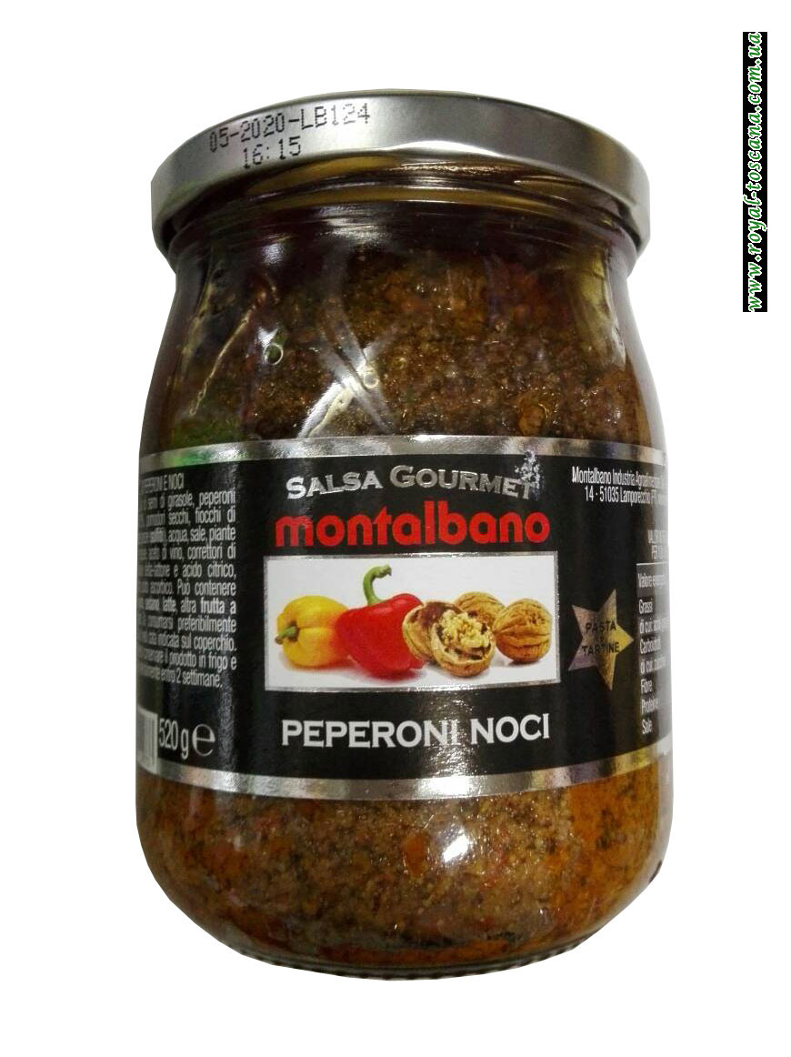 Соус Salsa Gourmet Montalbano Peperoni Noci