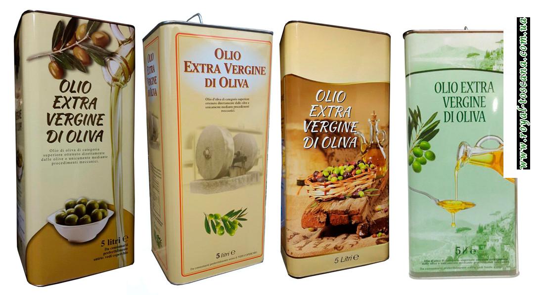 Оливковое масло Extra Vergine di oliva, 5л