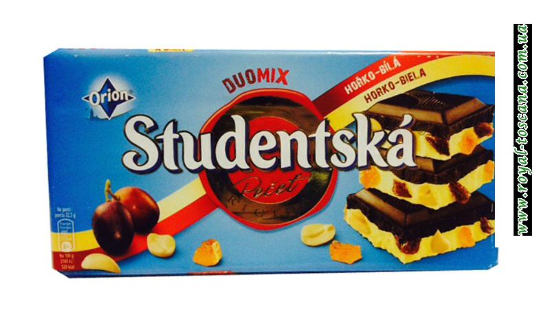 Шоколад черный с белым Orion Studentska Duomix Horko-Biela