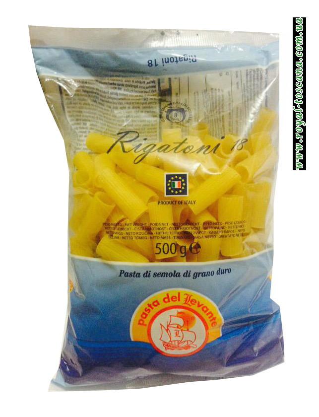 Макароны трубочки Pasta del Levante Rigatoni n.18