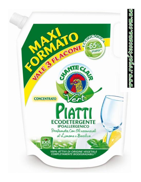 Жидкость для мытья посуды эко, дозарядка Chante Claire Piatti Ekodetergente