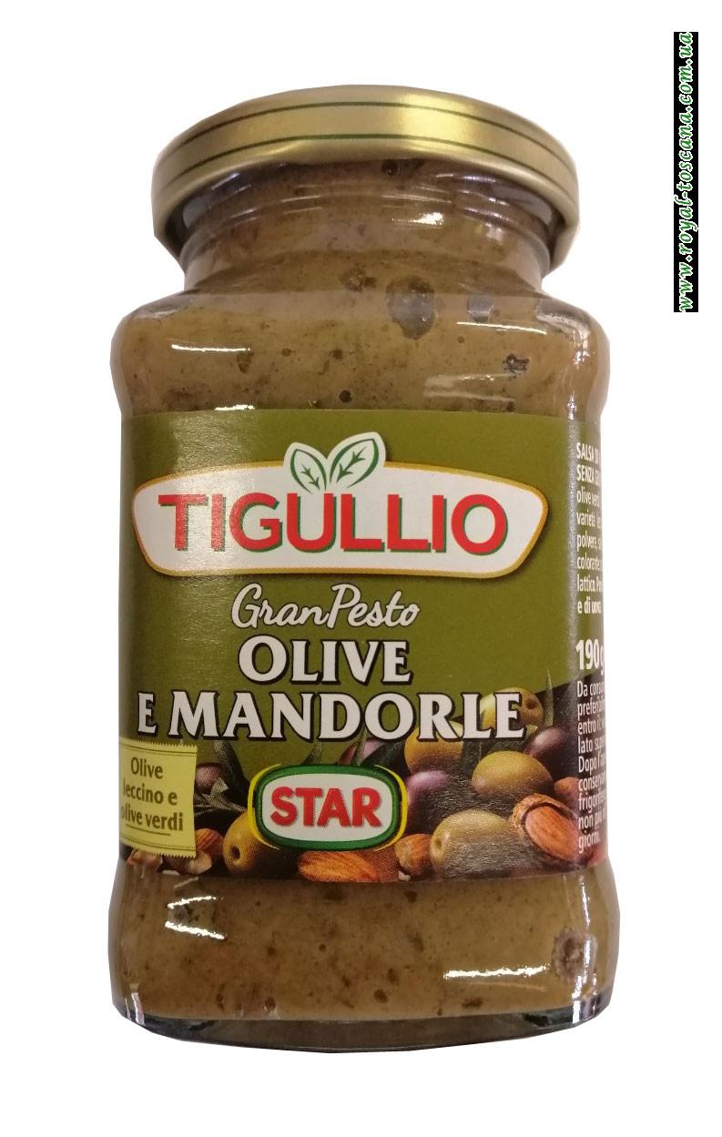 Соус с оливками и миндалем Tigullio Olive e Mandorle