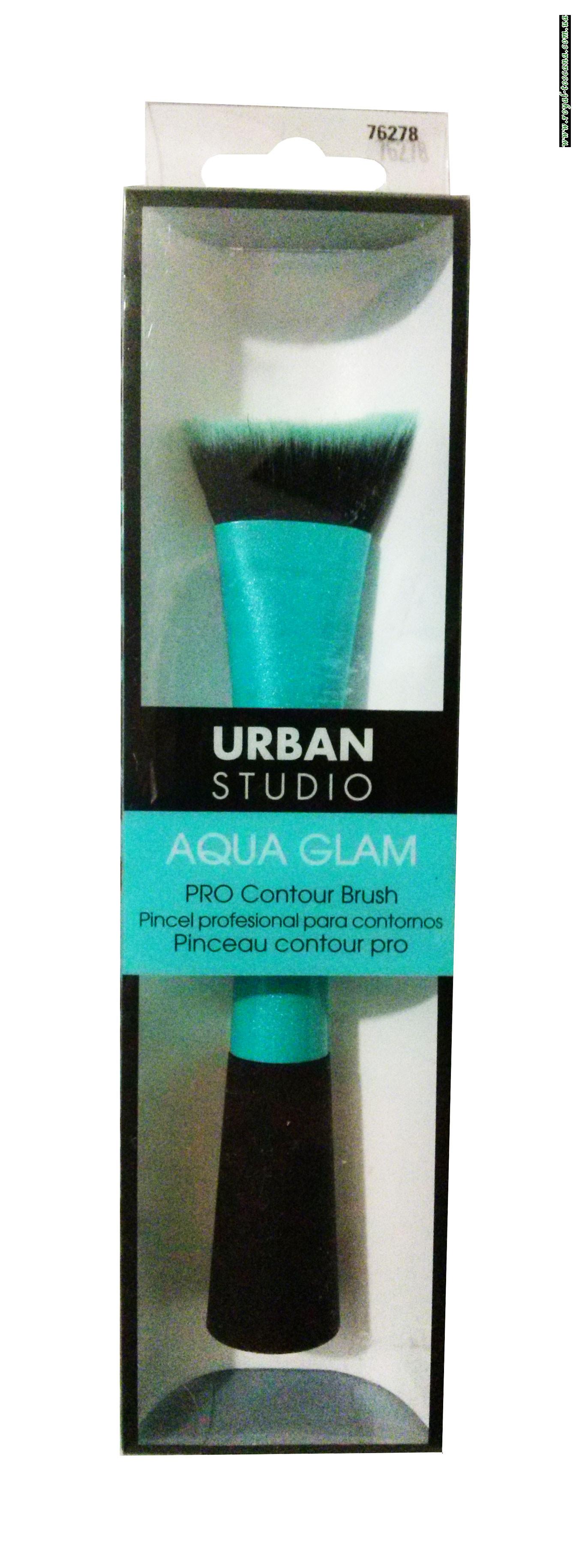 Контурная кисточка для нанесения макияжа Urban Studio Aqua Glam PRO Contour Brush