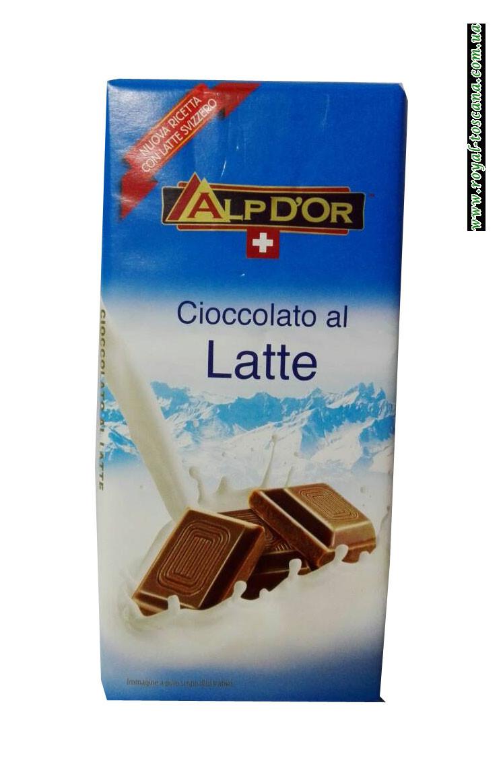 Шоколад молочный AlpDor Cioccolato al Latte