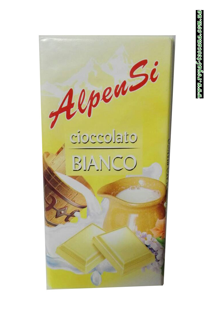 Шоколад белый AlpenSi Cioccolato Bianco