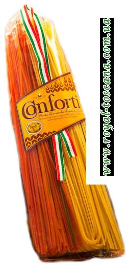 Цветные макароны Conforti Spaghetti tre Sapori