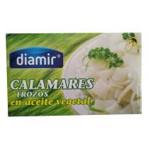 Кальмар в подсолнечном масле Diamir Calamares trozos en aceite vegetal 110г