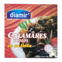 Кальмар в собственных чернилах Diamir Calamares trozos en tinta 266г
