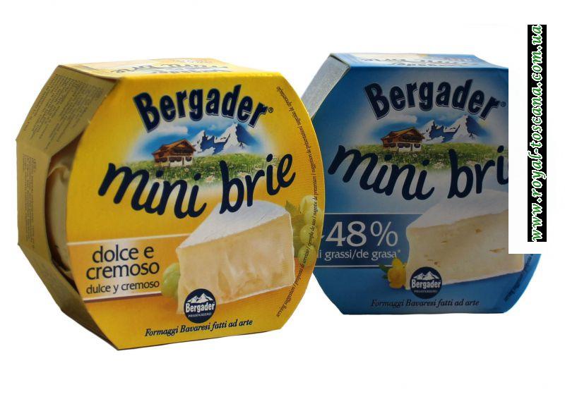 Сыр Bergader mini brie dolce e cremoso -48%il grassi