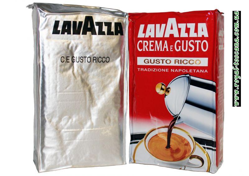 Кофе Lavazza Crema e Gusto ricco арабика 80%