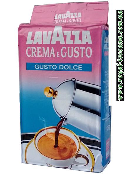Кофе Lavazza Crema e Gusto gusto dolce, 50% арабики, 50% робусты